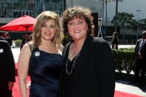 Bridgett Casteen and Dot-Marie Jones on the Red Carpet at the 65th Creative Arts Emmys