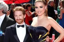Seth Green and Clare Grant on the Red Carpet at the at  the 65th Creative Arts Emmys