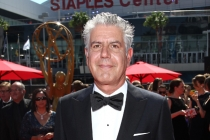 Anthony Bourdain on the Red Carpet at the at  the 65th Creative Arts Emmys