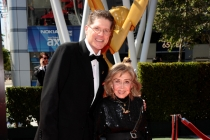 Bob Bergen and June Foray on the Red Carpet at the 65th Creative Arts Emmys