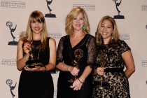 Katia Blichfeld, Jennifer McNamara-Shroff and Jessica Daniels at the 65th Creative Arts Emmys