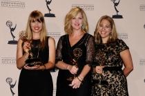 Katia Blichfeld, Jennifer McNamara-Shroff and Jessica Daniels at the 65th Creative Arts Emmys