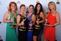 Jennifer Serio Stauffer, Inga Thrasher, Bettie O. Rogers, Jodi Mancuso, and Cara Hannah Sullivan at the 65th Creative Arts Emmys