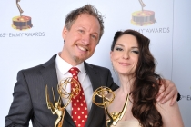Joseph Holt and Jenny Gase-Baker at the 65th Creative Arts Emmys