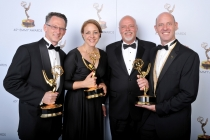 John Janavs, Heidi Miller, Kevin Lewis, and Robert Frye at the 65th Creative Arts Emmys