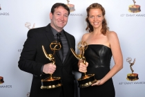 David Rogers and Claire Scanlon at the 65th Creative Arts Emmys