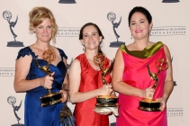 Sarah Beers, Rachel Greene, and Lisa Faibish at the 65th Creative Arts Emmys