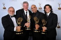 Frank Stettner, Tom Fleischman, George A. Lara, and Mark DeSimone at the 65th Creative Arts Emmys