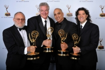 Frank Stettner, Tom Fleischman, George A. Lara, and Mark DeSimone at the 65th Creative Arts Emmys