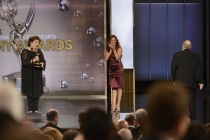 Margo Martindale presents Bob Newhart with his Emmy for Outstanding Guest Actors in a Comedy Series, The Big Bang Theory