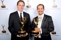 Mikael Stewart and Pablo Munguia at the 65th Creative Arts Emmys