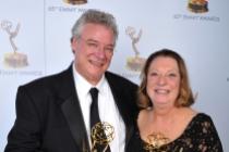 Tom Fleischman and Priscilla Fleischman at the 65th Creative Arts Emmys