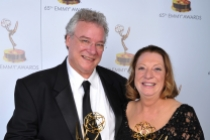 Tom Fleischman and Priscilla Fleischman at the 65th Creative Arts Emmys