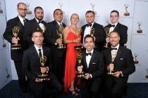 Mark Skowronski, Rick Ramirez, Armen Kevorkian, Jane Sharvina, Andranik Taranyan, Nick Sinnott, Jeremy Jozwik, Gevork Babityan, and Mike Oakley at the 65th Creative Arts Emmys