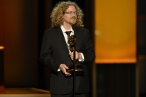 Andy Ristaino accepts the award for Outstanding Individual Achievements in Animation, Adventure Time