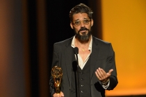 Alberto Mielgo accepts the award for Outstanding Individual Achievements in Animation for Disney TRON: Uprising