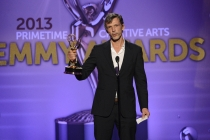 Eigil Bryld accepts the award for Outstanding Cinematography for a Single-Camera Series for House of Cards