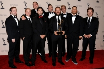 Creative team for the Deadliest Catch at the 65th Creative Arts Emmys