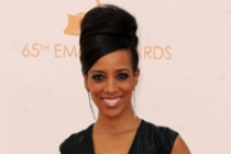 Shaun Robinson on the Red Carpet at the 65th Emmys