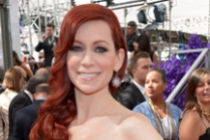 Carrie Preston on the Red Carpet at the 65th Emmys