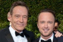 Bryan Cranston and Aaron Paul on the Red Carpet at the 65th Emmys