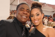 Tracy Morgan and Megan Wollover on the Red Carpet at the 65th Emmys