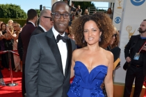 Don Cheadle and Bridgid Coulter on the Red Carpet at the 65th Emmys