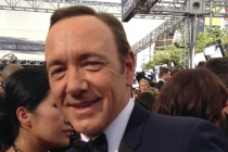 Kevin Spacey on the Red Carpet at the 65th Emmys