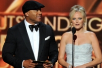 LL Cool J and Malin Akerman present the award for Outstanding Writing for a Comedy Series