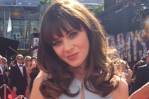 Zooey Deschanel on the Red Carpet at the 65th Emmys