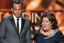Will Arnett and Margo Martindale on stage at the 65th Emmys