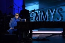 Sir Elton John performs at the 65th Emmys