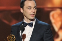 Jim Parsons accepts the award for Outstanding Lead Actor in a Comedy Series