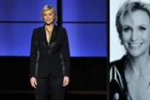 Jane Lynch remembers Cory Monteith at the 65th Emmys