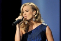 Carrie Underwood on stage at the 65th Emmys