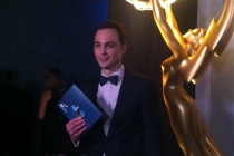 Jim Parsons backstage at the 65th Emmys