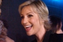 Jane Lynch backstage at the 65th Emmys