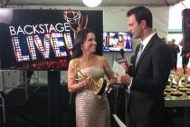 Julia Louis-Dreyfus backstage at the 65th Emmys