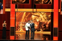 Jon Hamm and Alec Baldwin present the award for Outstanding Lead Actress in a Comedy Series