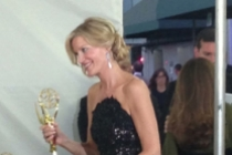 Anna Gunn backstage at the 65th Emmys