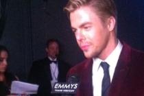 Derek Hough backstage at the 65th Emmys
