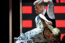 Derek Hough on stage at the 65th Emmys