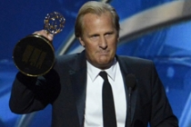 Jeff Daniels on stage at the 65th Emmys