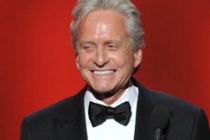 Michael Douglas on stage at the 65th Emmys