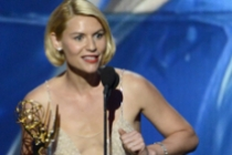 Claire Danes accepts the award for Outstanding Leading Actress in a Drama Series