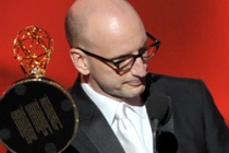 Steven Soderbergh accepts the award for Outstanding Directing for a Miniseries