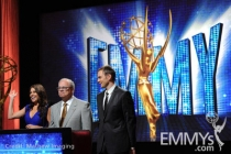 Sofia Vergara, John Shaffner and Joel McHale at the 62nd Primetime Emmy Awards Nominations Ceremony