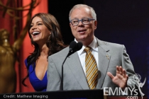 Sofia Vergara and John Shaffner at the 62nd Primetime Emmy Awards Nominations Ceremony