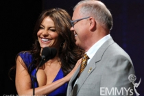 Sofia Vergara and Television Academy CEO John Shaffner