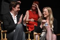 The Office - John Krasinski and producer Jennifer Celotta
